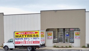 Mattress delivery truck for Best Value Mattress Warehouse Indianapolis Indiana 46278