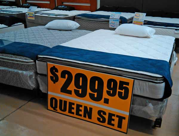 mattress sale display room at Best Value Mattress Warehouse Indianapolis