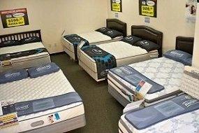 mattress sale display room at best value mattress warehouse